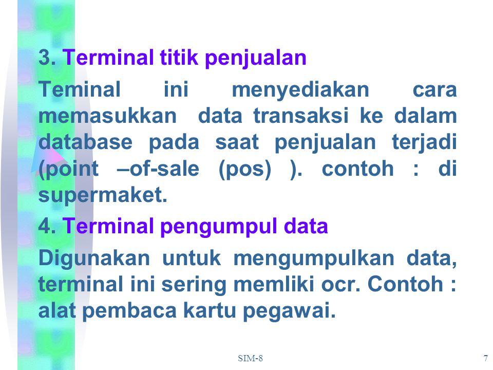 3. Terminal titik penjualan