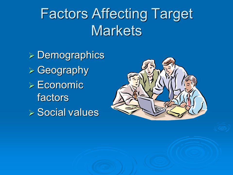 Factors Affecting Target Markets
