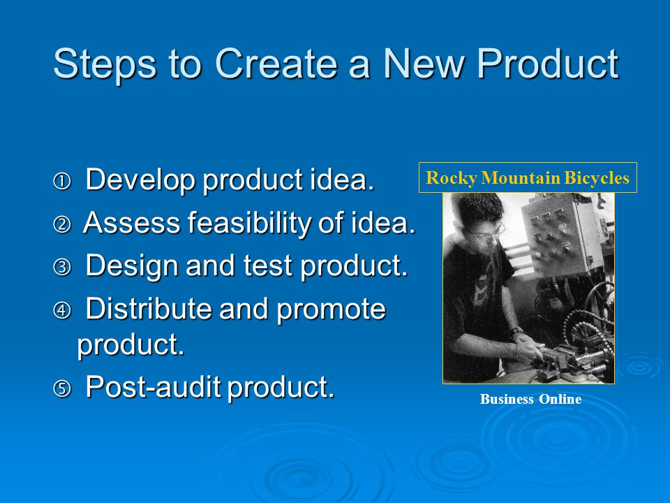 Steps to Create a New Product
