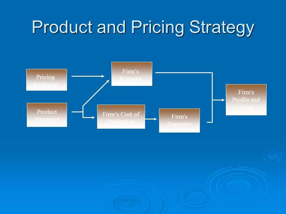 Product and Pricing Strategy
