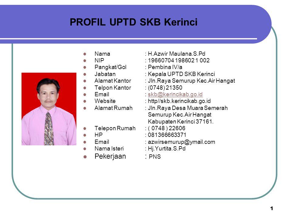 PROFIL UPTD SKB Kerinci