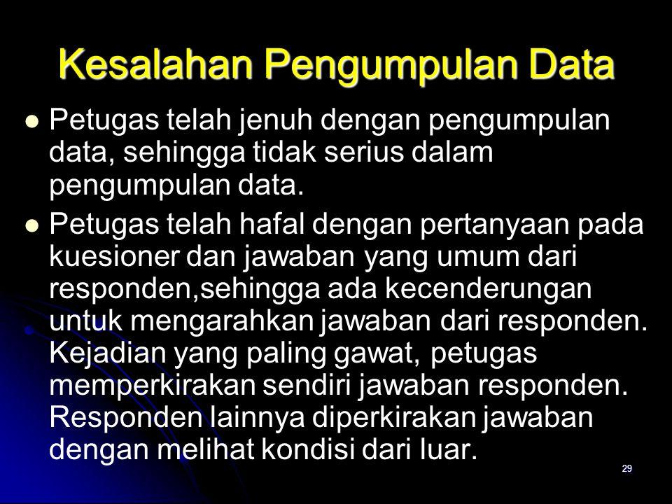 Kesalahan Pengumpulan Data
