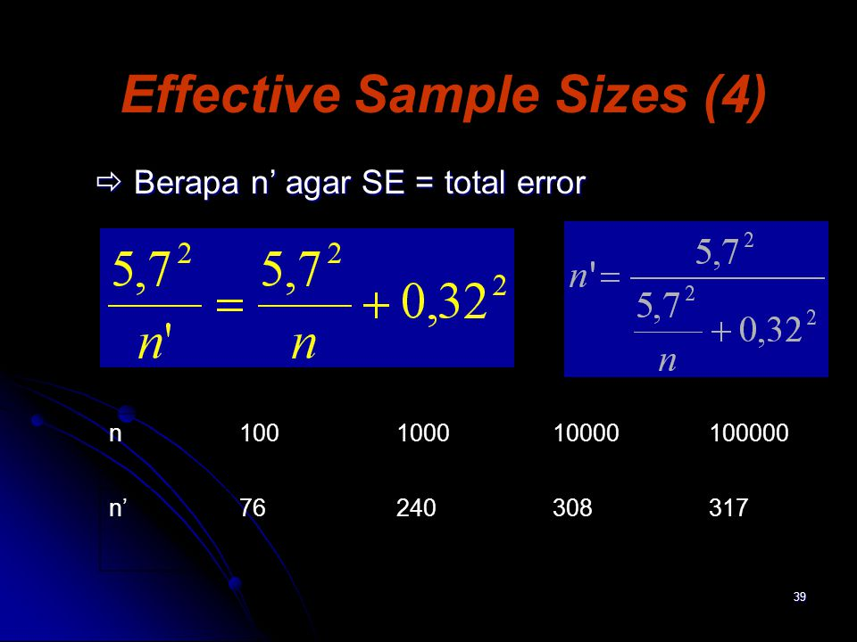 Effective Sample Sizes (4)