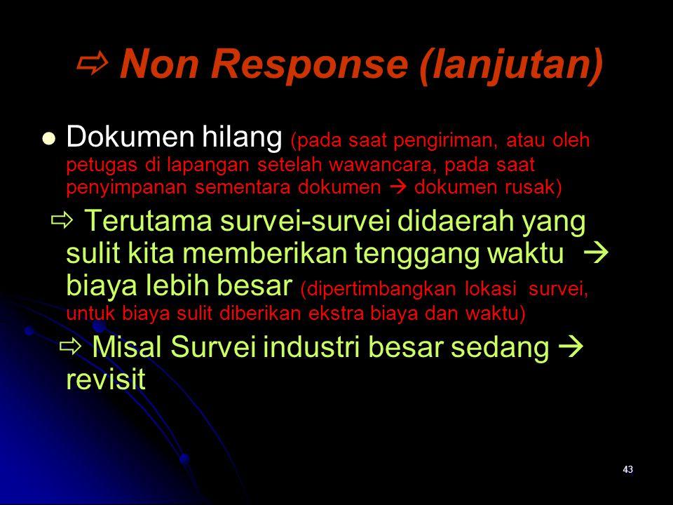  Non Response (lanjutan)