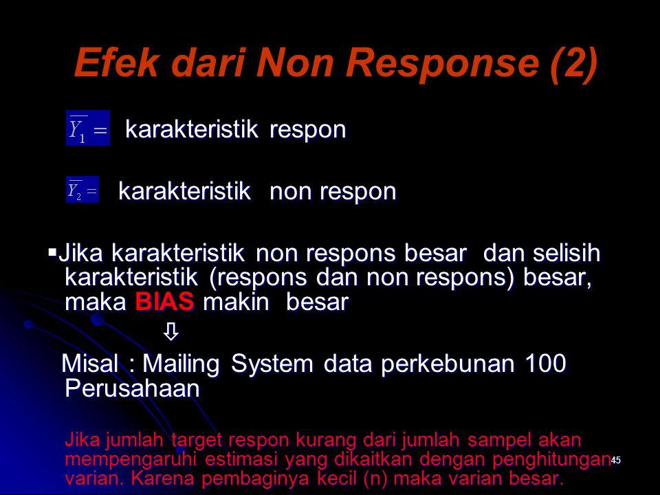 Efek dari Non Response (2)