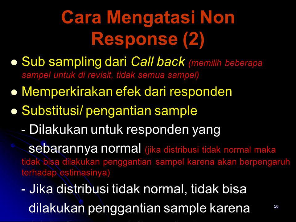 Cara Mengatasi Non Response (2)