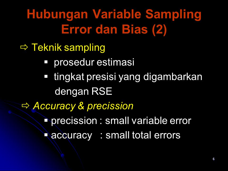 Hubungan Variable Sampling Error dan Bias (2)