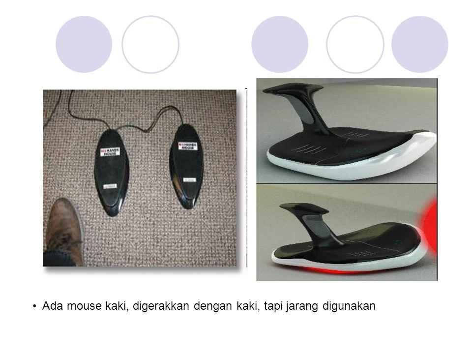 • Ada mouse kaki, digerakkan dengan kaki, tapi jarang digunakan