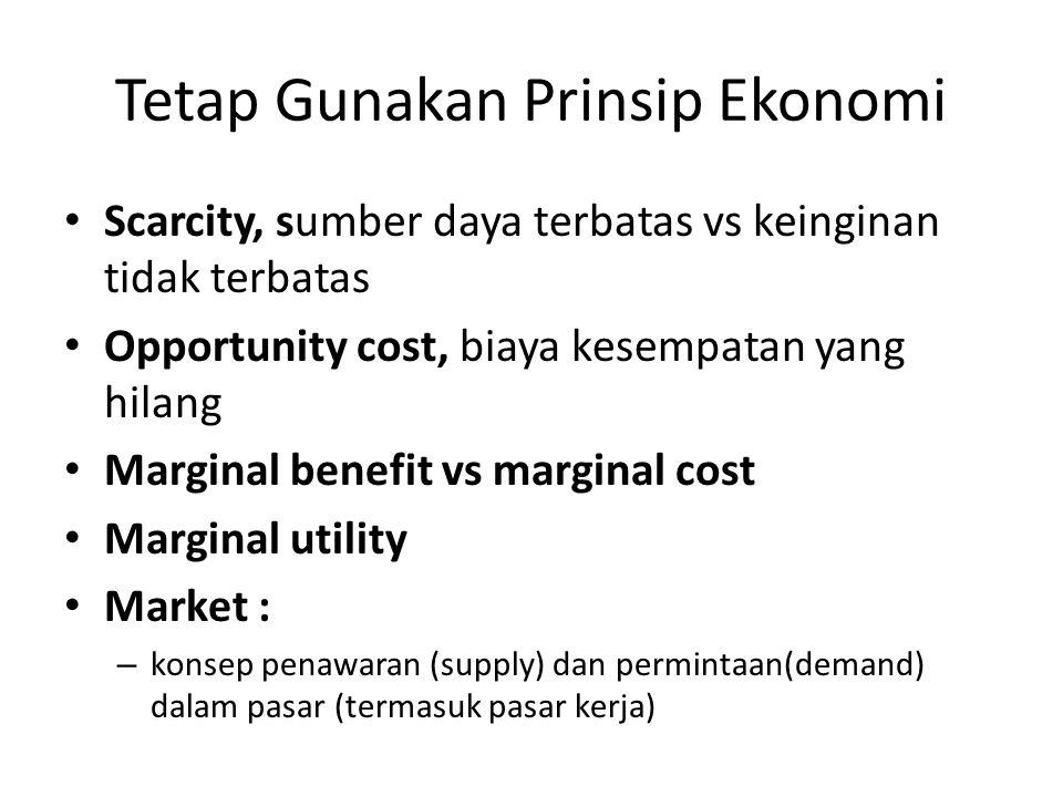 Tetap Gunakan Prinsip Ekonomi