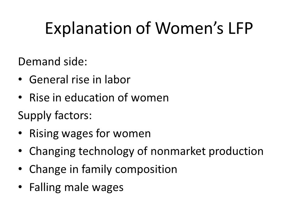 Explanation of Women's LFP