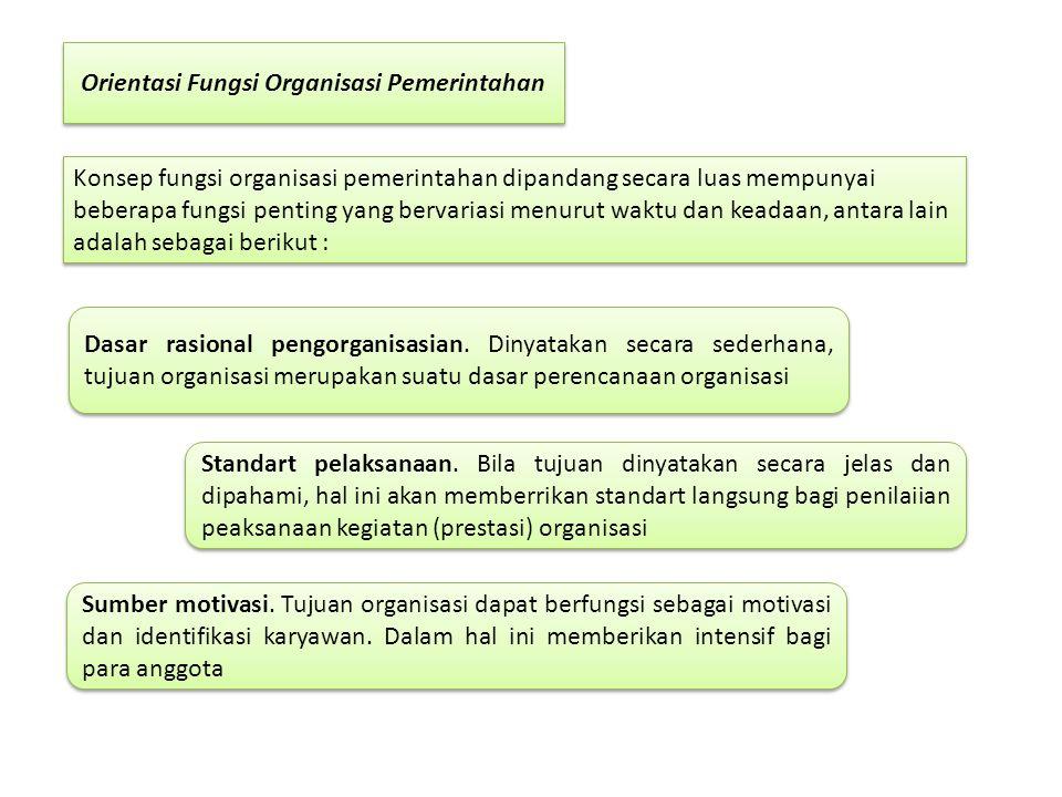 Orientasi Fungsi Organisasi Pemerintahan