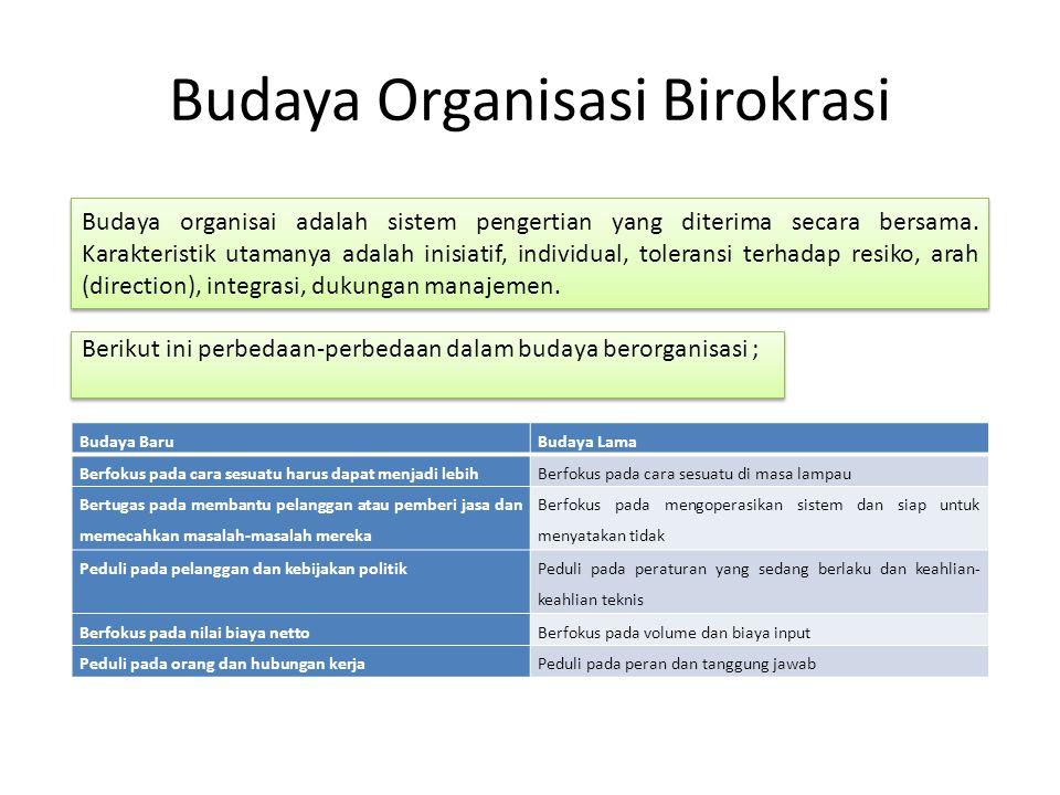 Budaya Organisasi Birokrasi