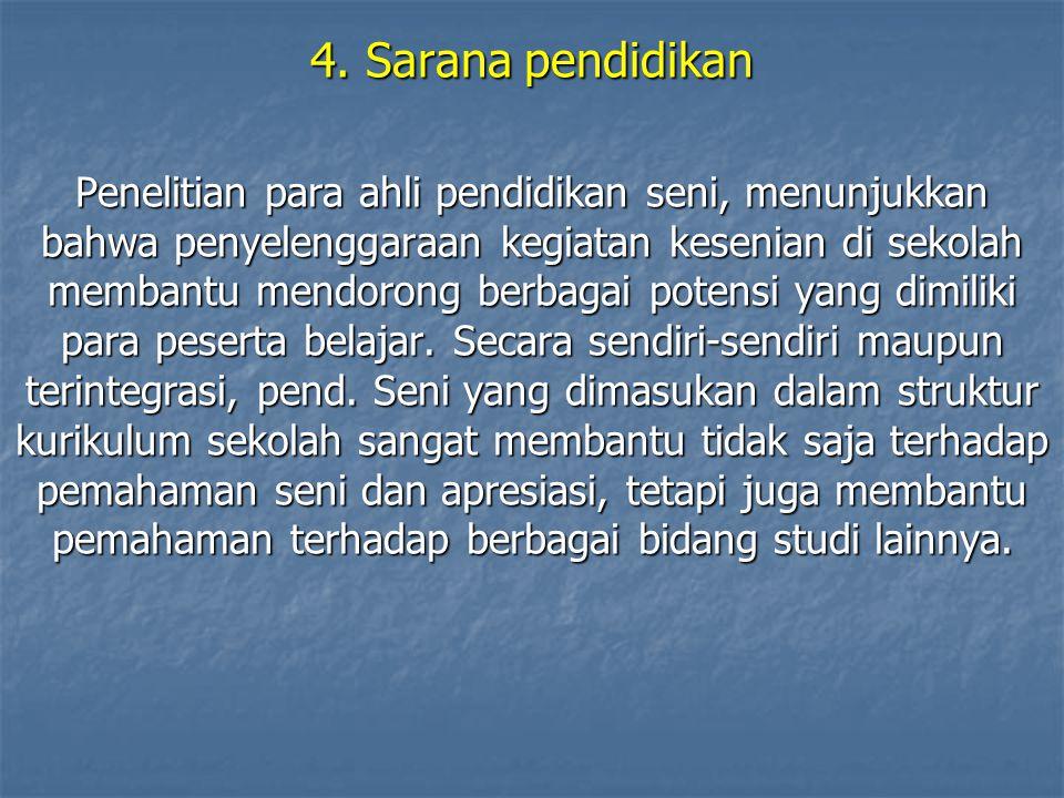 4. Sarana pendidikan