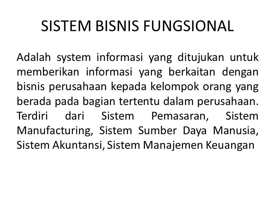 SISTEM BISNIS FUNGSIONAL