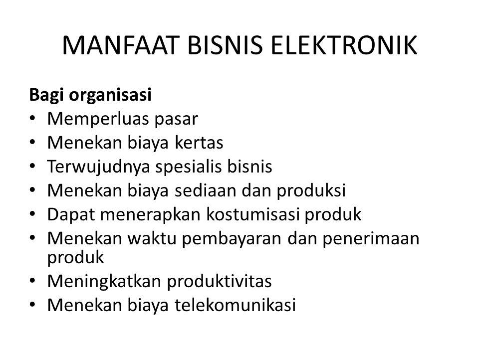 MANFAAT BISNIS ELEKTRONIK