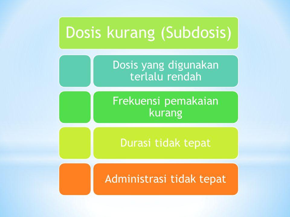 Dosis kurang (Subdosis)