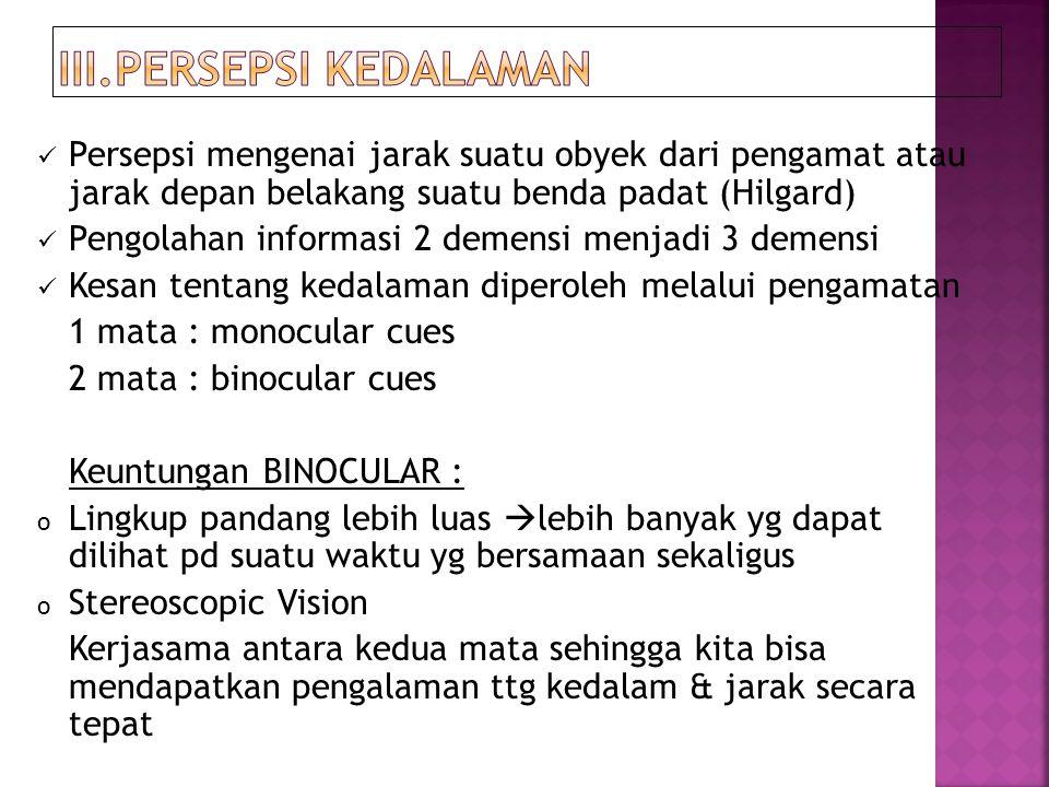 III.PERSEPSI KEDALAMAN