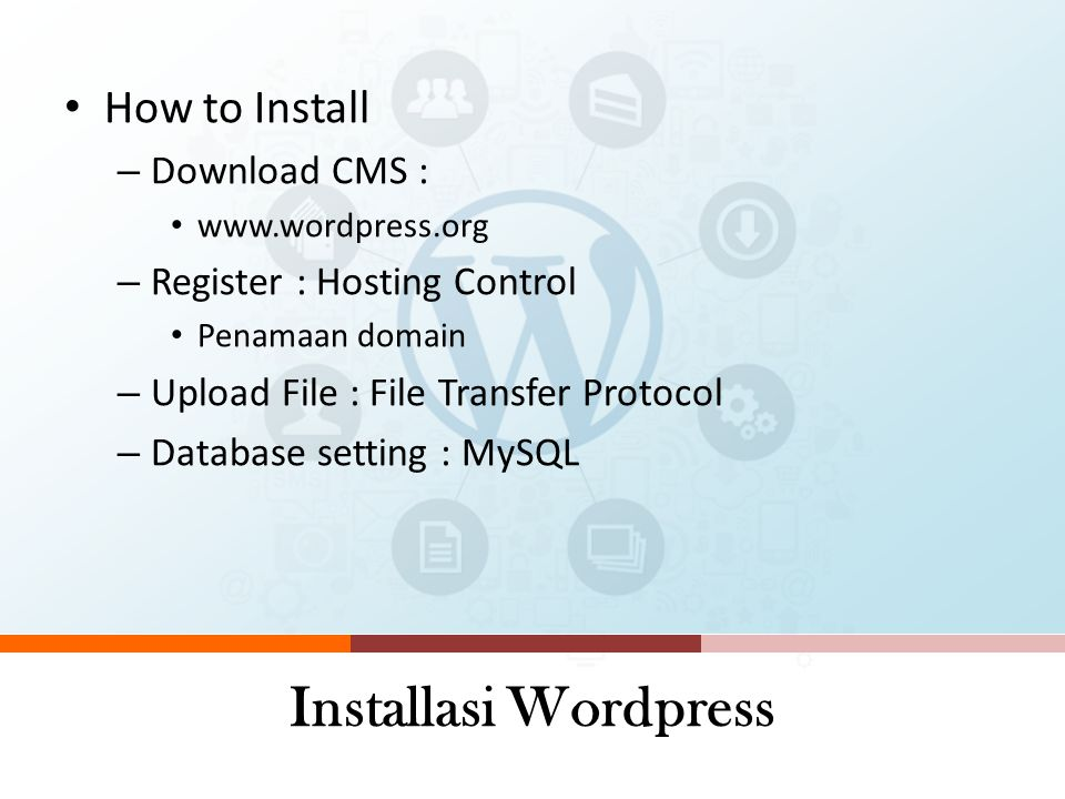 Installasi Wordpress How to Install Download CMS :