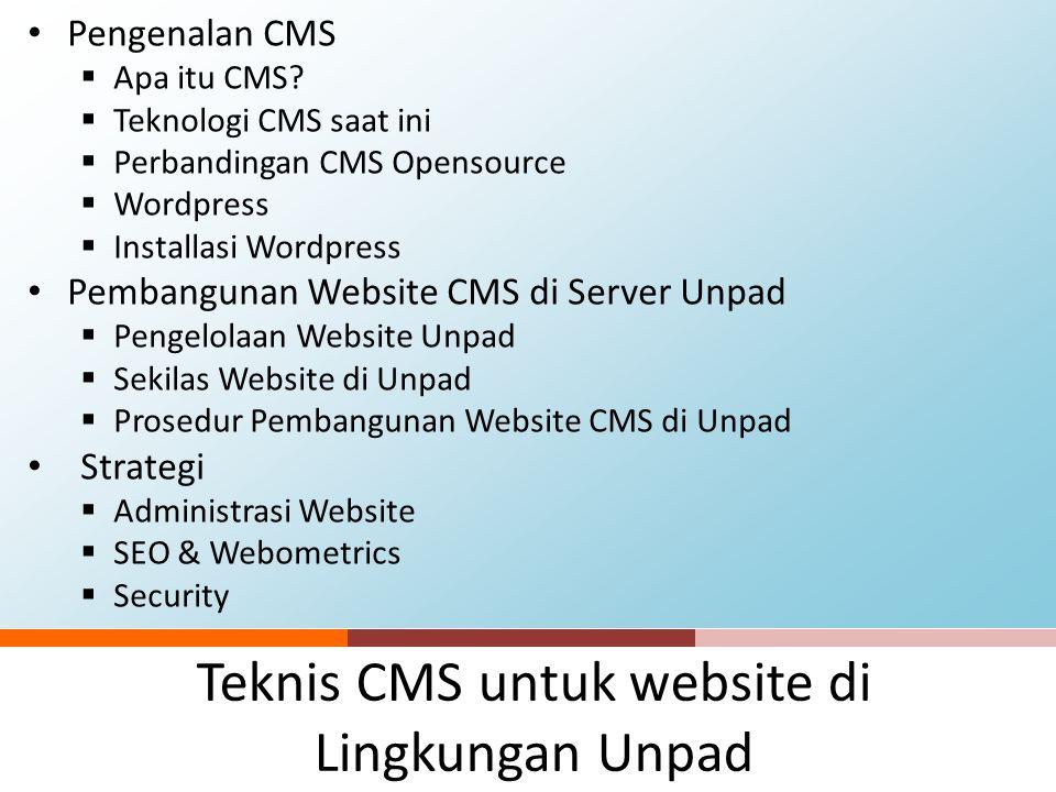 Teknis CMS untuk website di Lingkungan Unpad
