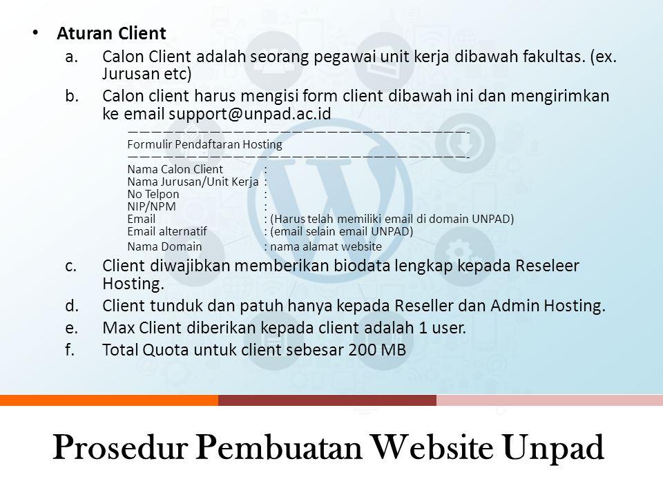 Prosedur Pembuatan Website Unpad