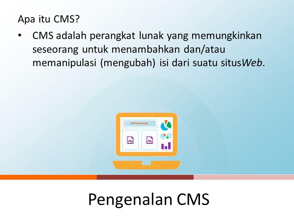 Pengenalan CMS Apa itu CMS