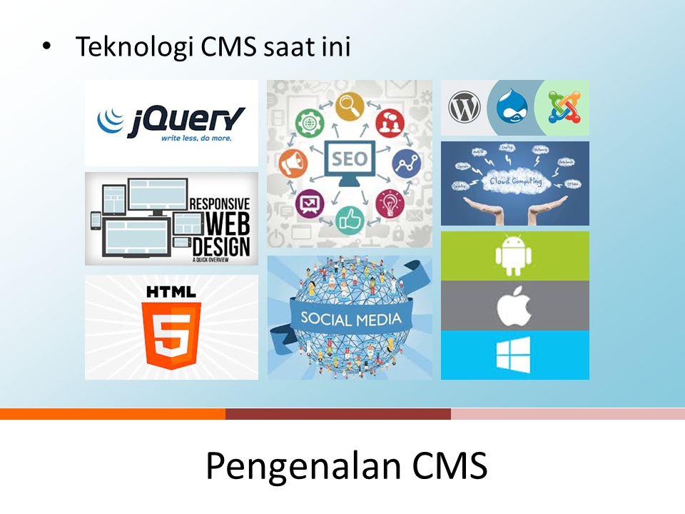 Teknologi CMS saat ini Pengenalan CMS