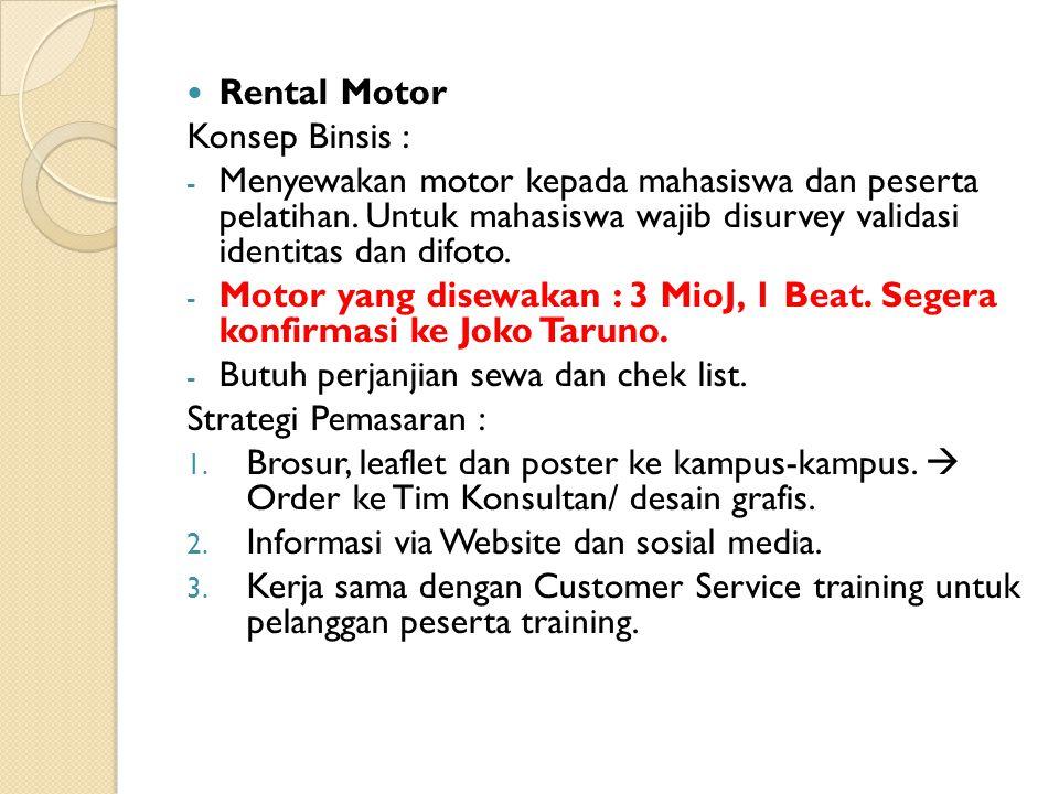 Rental Motor Konsep Binsis :