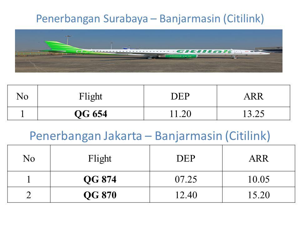 Penerbangan Surabaya – Banjarmasin (Citilink)
