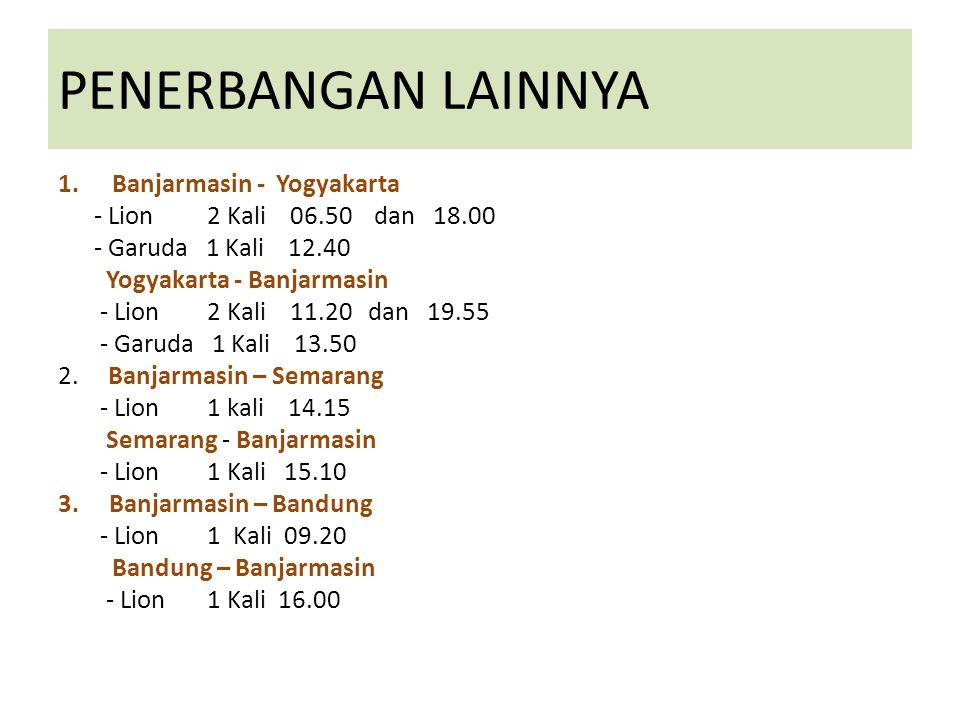 PENERBANGAN LAINNYA Banjarmasin - Yogyakarta