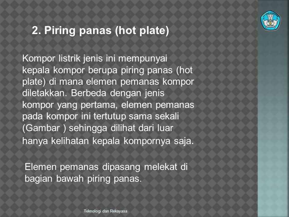 2. Piring panas (hot plate)
