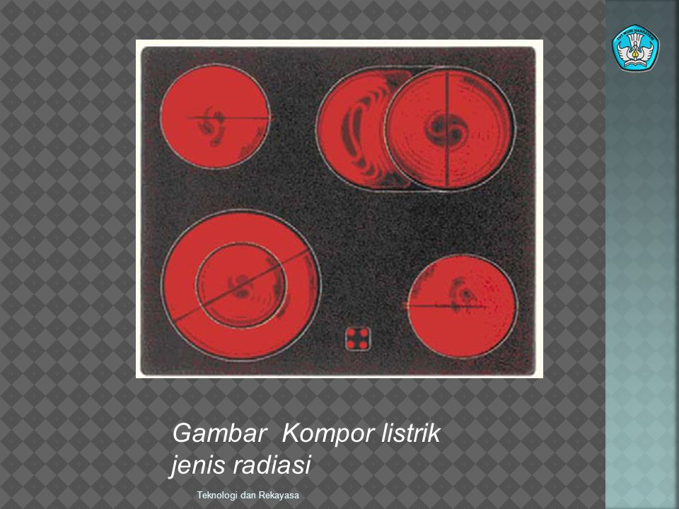 Gambar Kompor listrik jenis radiasi Teknologi dan Rekayasa