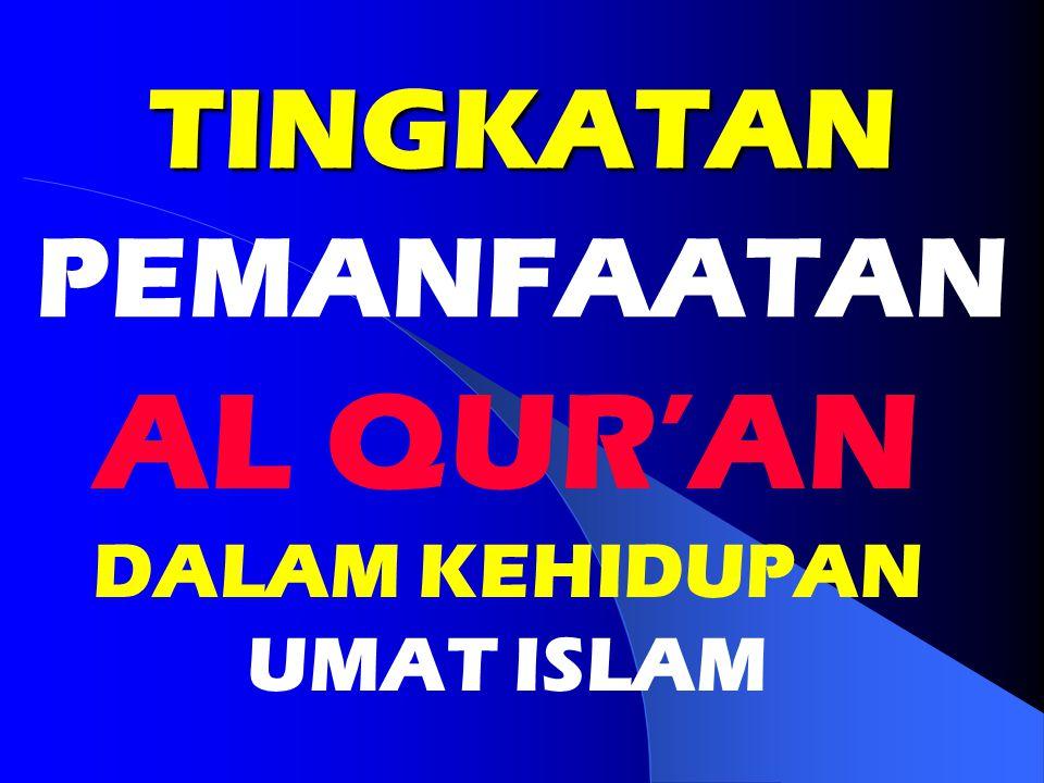AL QUR'AN DALAM KEHIDUPAN UMAT ISLAM