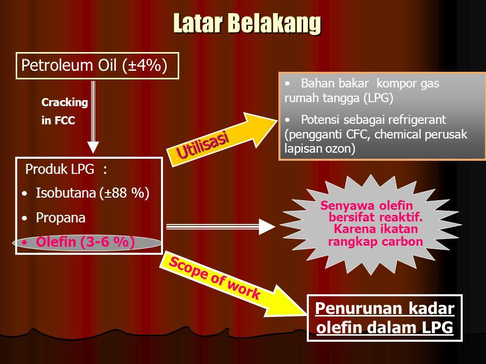 Penurunan kadar olefin dalam LPG