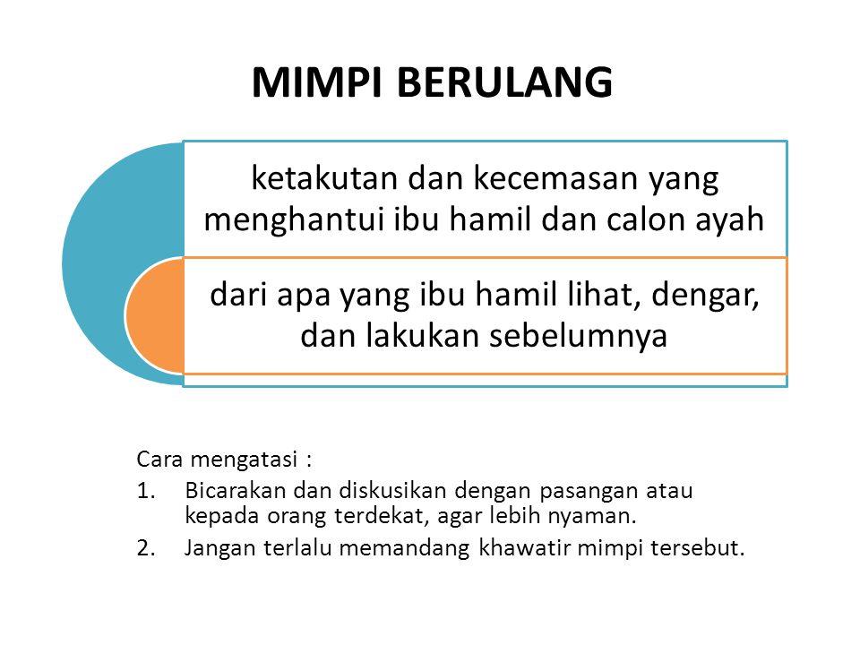 MIMPI BERULANG Cara mengatasi :