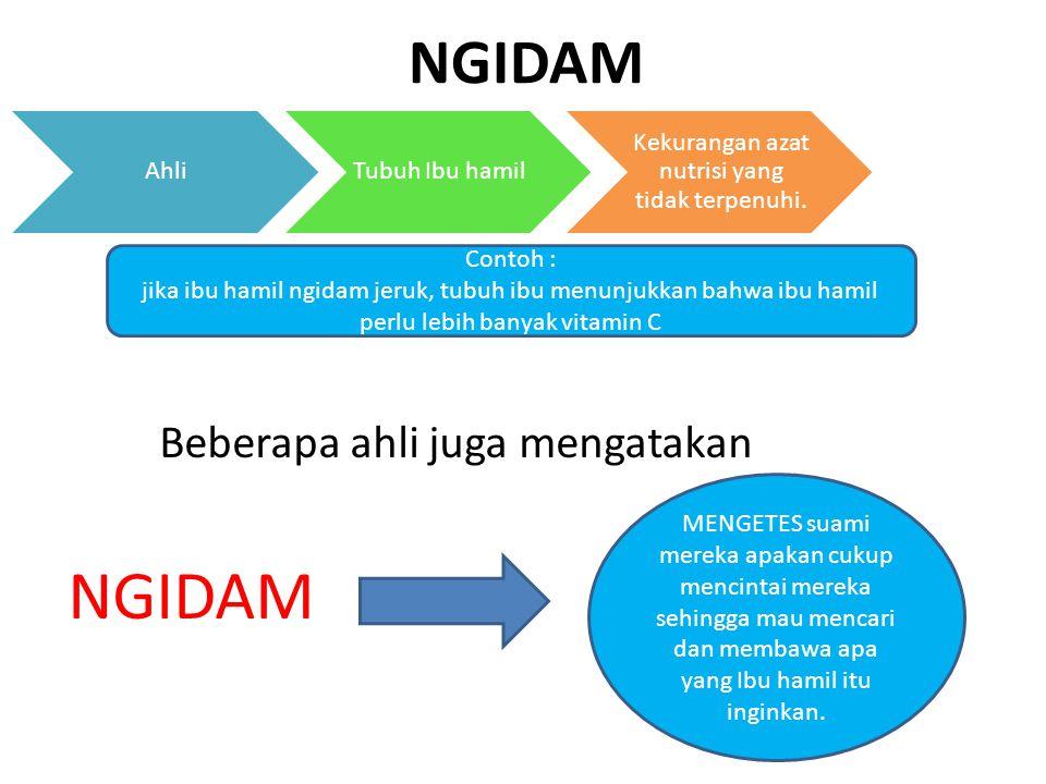 Beberapa ahli juga mengatakan NGIDAM