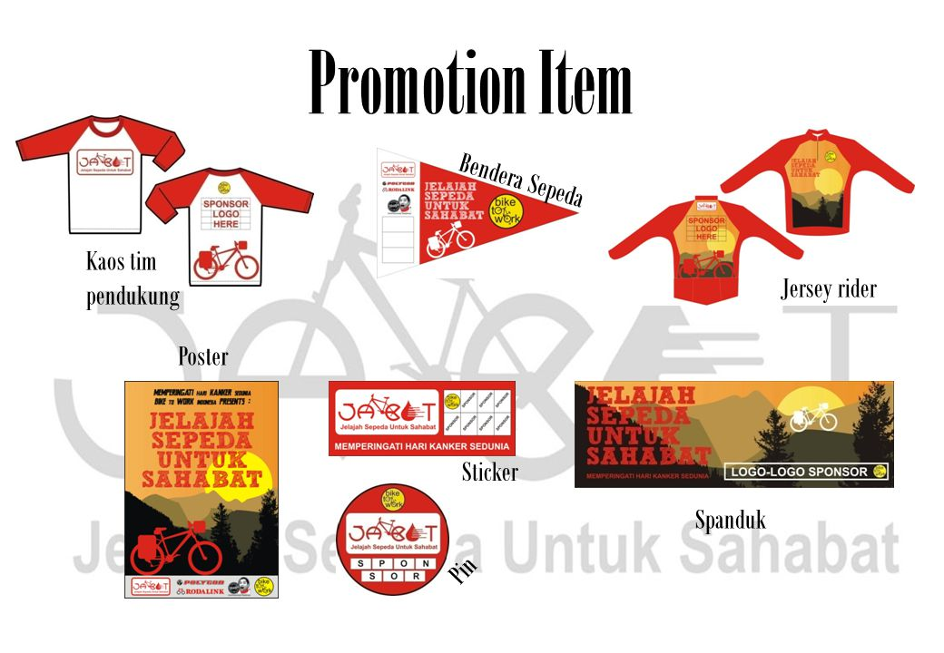 Promotion Item Bendera Sepeda Kaos tim pendukung Jersey rider Poster