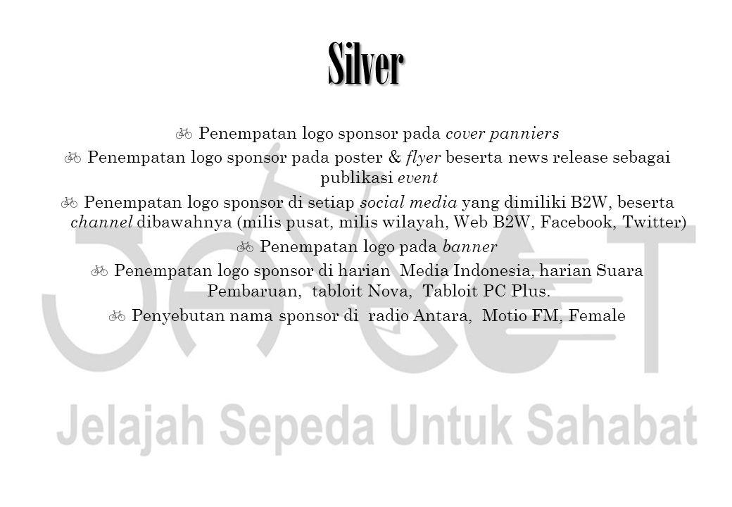 Silver Penempatan logo sponsor pada cover panniers