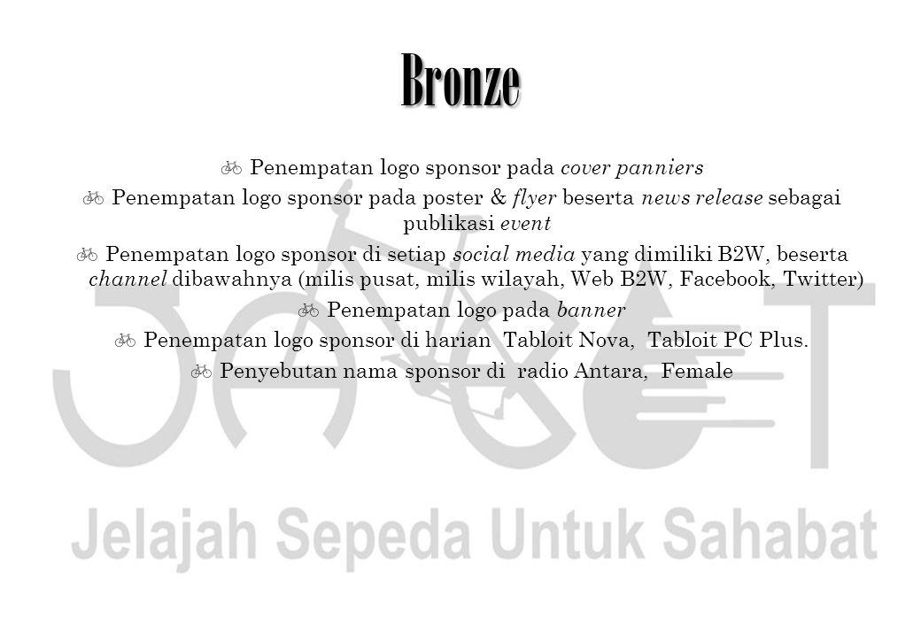 Bronze Penempatan logo sponsor pada cover panniers