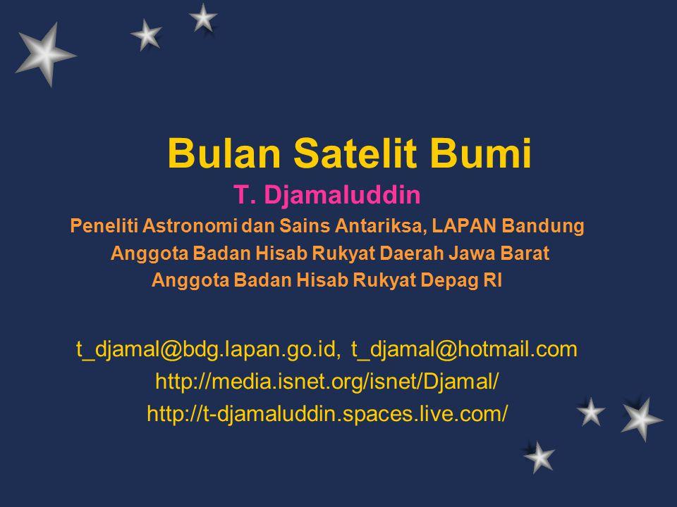 Bulan Satelit Bumi T. Djamaluddin
