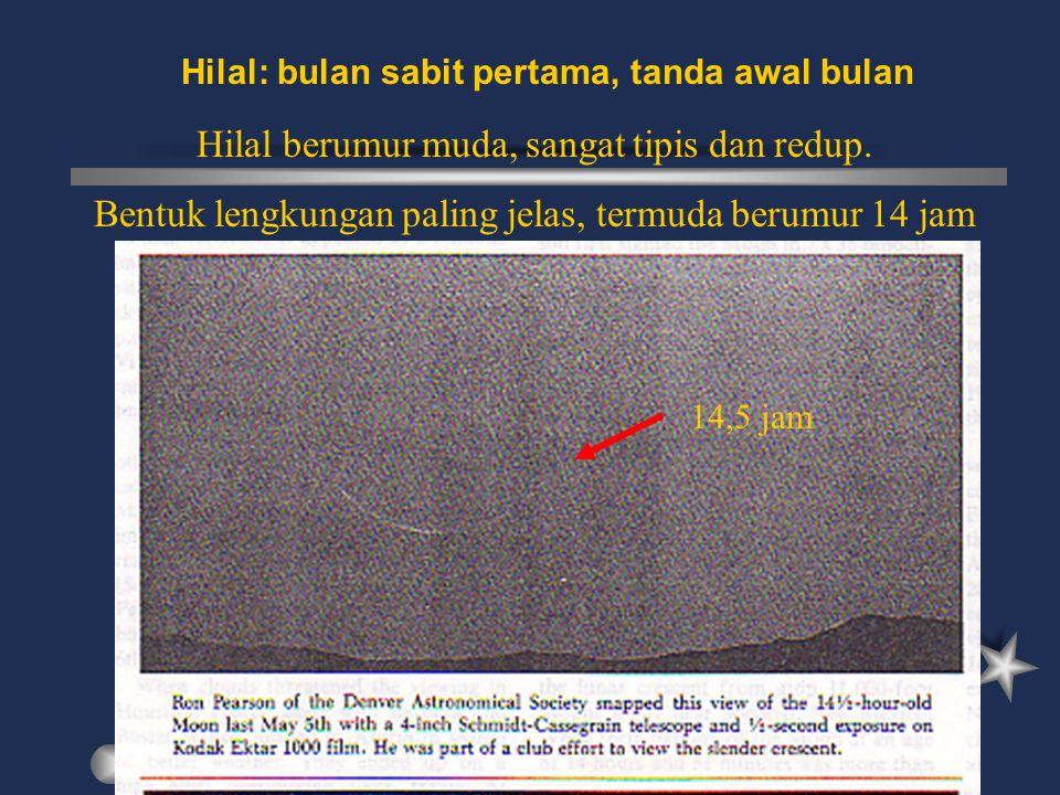 Hilal: bulan sabit pertama, tanda awal bulan