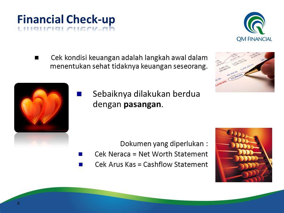 Financial Check-up Sebaiknya dilakukan berdua dengan pasangan.