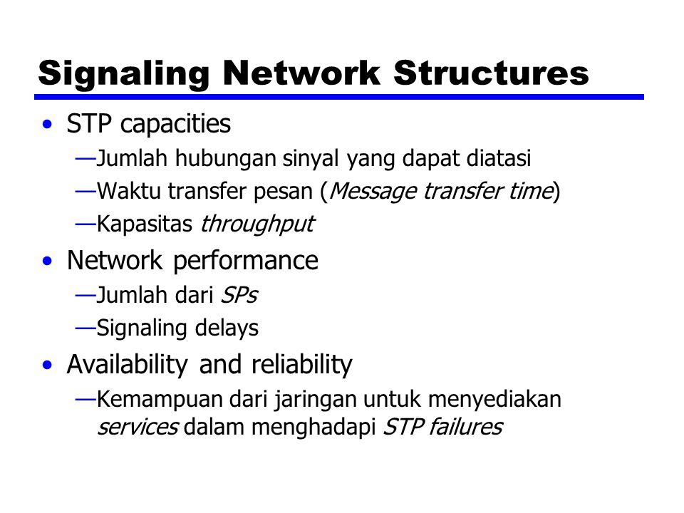 Signaling Network Structures