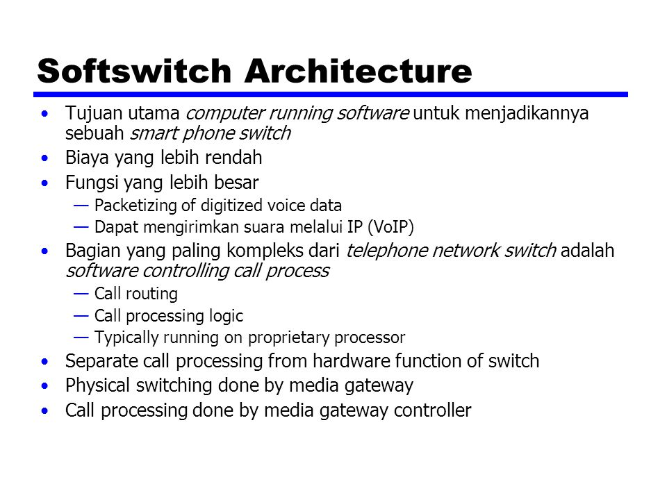 Softswitch Architecture