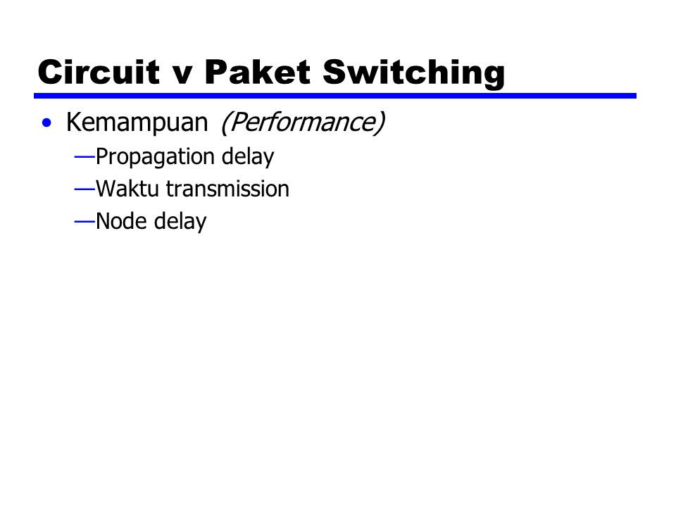 Circuit v Paket Switching