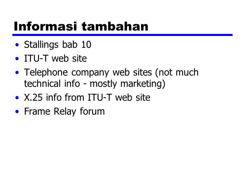 Informasi tambahan Stallings bab 10 ITU-T web site