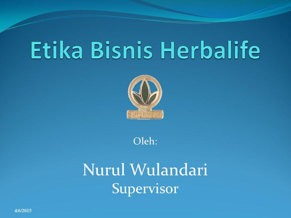 Etika Bisnis Herbalife