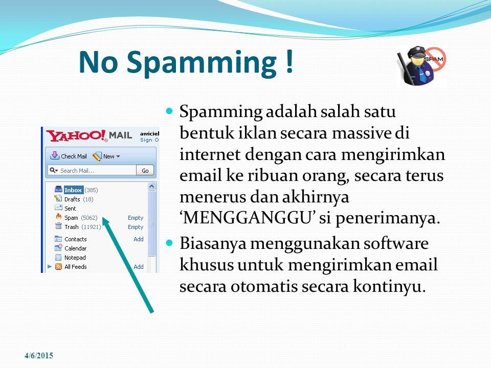 No Spamming !