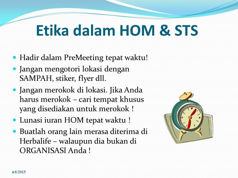 Etika dalam HOM & STS Hadir dalam PreMeeting tepat waktu!
