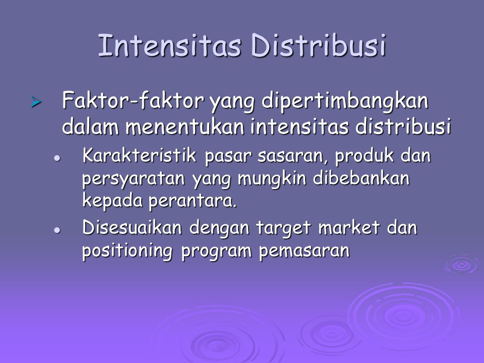 Intensitas Distribusi