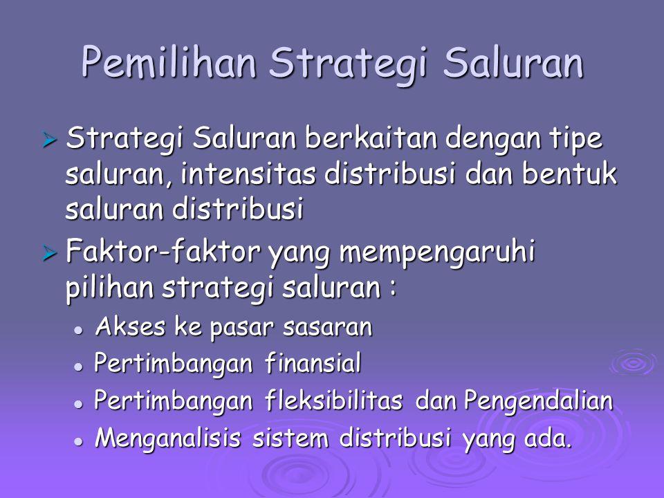 Pemilihan Strategi Saluran